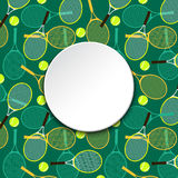 Invitation card with tennis rackets and balls Stock Photo