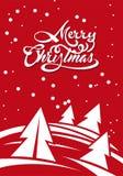 Marry Christmas invitation card stock illustration