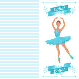 Invitation card to ballet dance show with Stock Photography