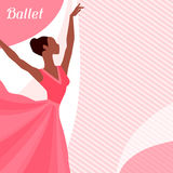 Invitation card to ballet dance show with Stock Image