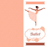 Invitation card to ballet dance show with Royalty Free Stock Image