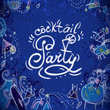 Invitation card  to cocktail party. This is file of EPS10 format Stock Photo