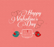 Invitation card for valentine Stock Images