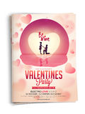 Invitation card for Valentine's Day celebration. Stock Images