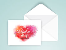Invitation card for Valentine's Day celebration. Royalty Free Stock Images
