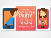 Invitation card for Valentine's Day celebration. Stock Photography