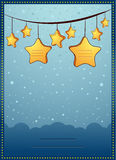 Invitation Card. Vector Illustration Of a Baby Shower invitation with Copyspace for your Text Royalty Free Stock Image
