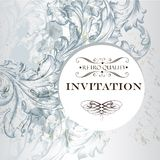 Invitation card in vintage elegant  style Stock Photo