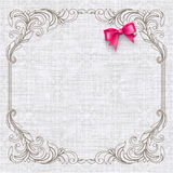 Invitation card with vintage elements Royalty Free Stock Photo