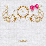 Invitation card with vintage elements Royalty Free Stock Photography