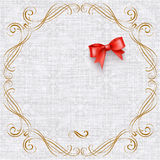Invitation card with vintage elements Stock Image