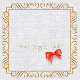 Invitation card with vintage elements Royalty Free Stock Images