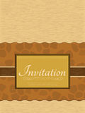 Invitation card. Vintage Invitation card. This is file of EPS10 format stock illustration