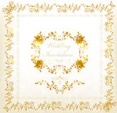 Invitation card in vintage luxury style Royalty Free Stock Image
