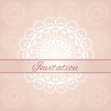 Invitation card. Vintage invitation card with pattern Stock Image