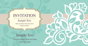 Invitation card vintage style Royalty Free Stock Photography