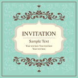 Invitation card vintage style Royalty Free Stock Photos