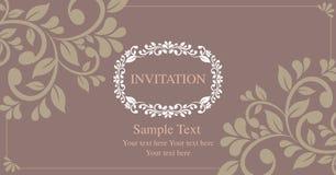 Invitation card vintage style Stock Photos