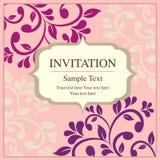 Invitation card vintage style Stock Image