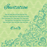 Invitation card vintage Stock Photo