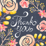 Invitation card with watercolor flowers for your Royalty Free Stock Photos