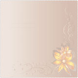 Invitation card on wedding Stock Image