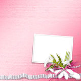 Invitation card for the wedding Stock Image