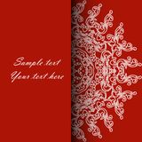 Invitation card for the wedding, anniversary, birthday and other. Holidays. Illustrations on a red background with place for text. Can be used as a brochure Stock Photography