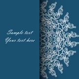 Invitation card for the wedding, anniversary, birthday and other. Holidays. Beautiful floral illustration on a Blue background with place for text. Can be used Royalty Free Stock Photo