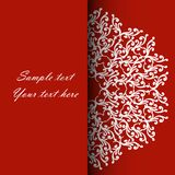 Invitation card for the wedding, anniversary, birthday and other. Holidays. Illustrations on a red background with place for text. Can be used as a brochure Royalty Free Stock Image