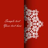 Invitation card for the wedding, anniversary, birthday and other. Holidays. Illustrations on a red background with place for text. Can be used as a brochure Stock Photos
