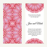 Invitation card on wedding. Background with ornament. Vector ill Stock Images