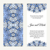 Invitation card on wedding. Background with ornament. Vector ill Royalty Free Stock Images