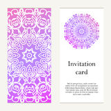 Invitation card on wedding, birthday. Background with ornament. Stock Images