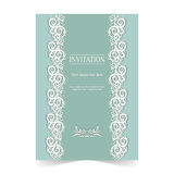 Invitation card, wedding card with ornamental background Royalty Free Stock Photo