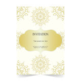 Invitation card, wedding card with ornamental Royalty Free Stock Photography