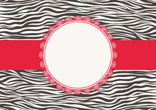 Invitation card with zebra texture Stock Photography