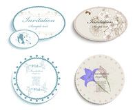 Invitation cards Royalty Free Stock Images
