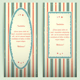 Invitation cards with different frames. Stock Photography