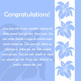 Invitation cards with floral elements. Invitation cards with floral elements over blue background Royalty Free Stock Photography