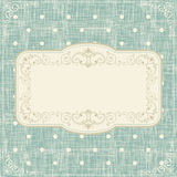 Invitation cards on polka dots background Royalty Free Stock Photos