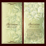 Invitation cards. Vector Invitation cards. Vintage decorative elements. Hand drawn background Royalty Free Stock Photos