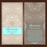 Invitation cards. Vector Invitation cards. Vintage decorative elements. Hand drawn background Royalty Free Illustration