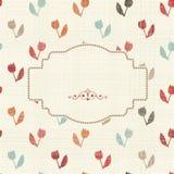 Invitation cards on vintage floral background Stock Image