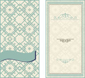 Invitation cards on vintage geometric background Royalty Free Stock Image