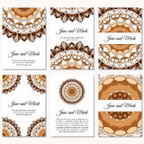 Invitation cards on wedding. Background with ornament. Vector il Stock Image