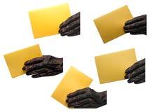 Invitation cards Zombie. Zombie hand take card Stock Image