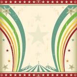 Invitation carrée de cirque d'arc-en-ciel. Photographie stock libre de droits