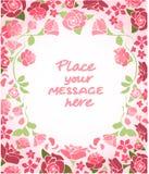 invitation Cartão do casamento ou de aniversário Frame floral Fundo da aguarela com flores ilustração royalty free