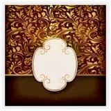 Carte florale d'invitation avec le label Photos stock